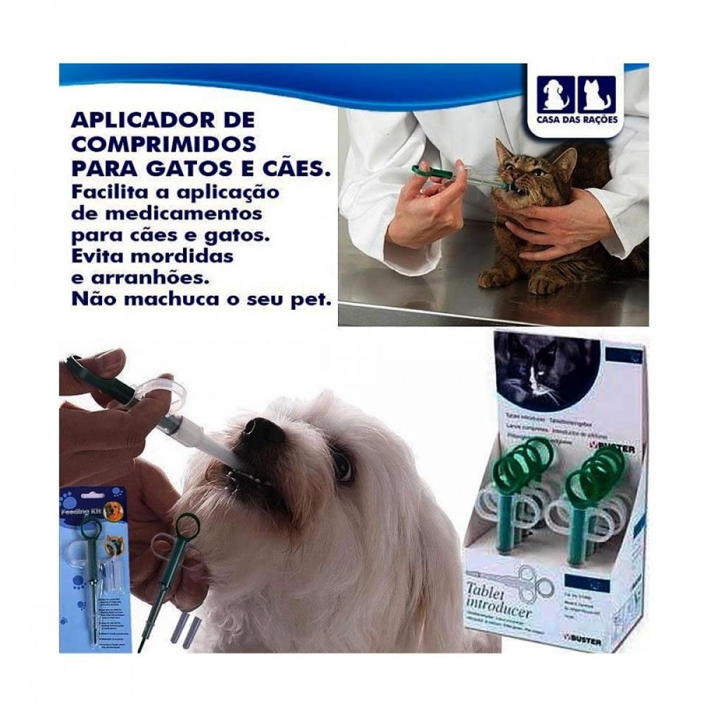 Aplicador de Comprimido para Cães e Gatos