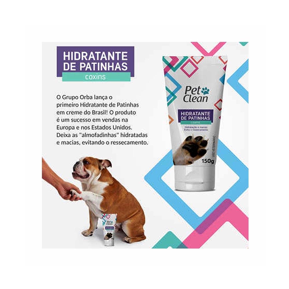 Hidratante de Patinhas Pet Clean Coxins para Cães 150G