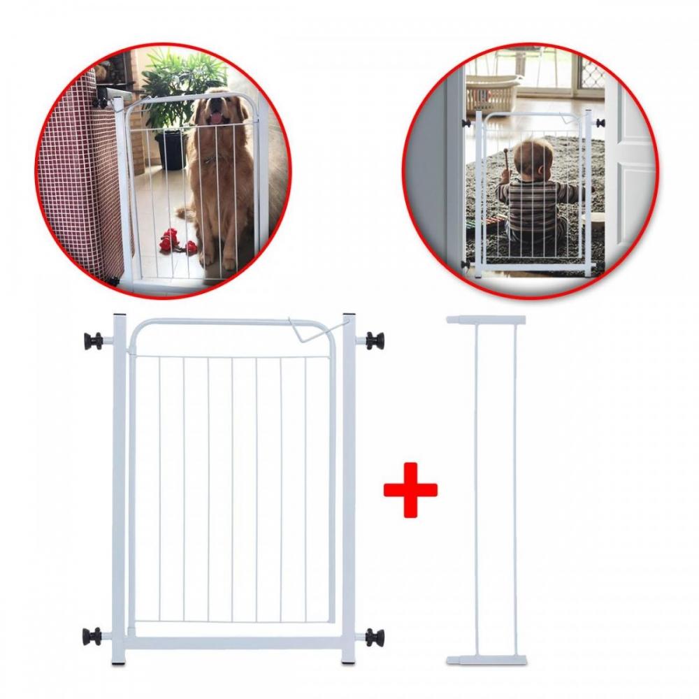 Portão Grade Para Cachorro e Criança 70 X 80cm com extensor Açomix