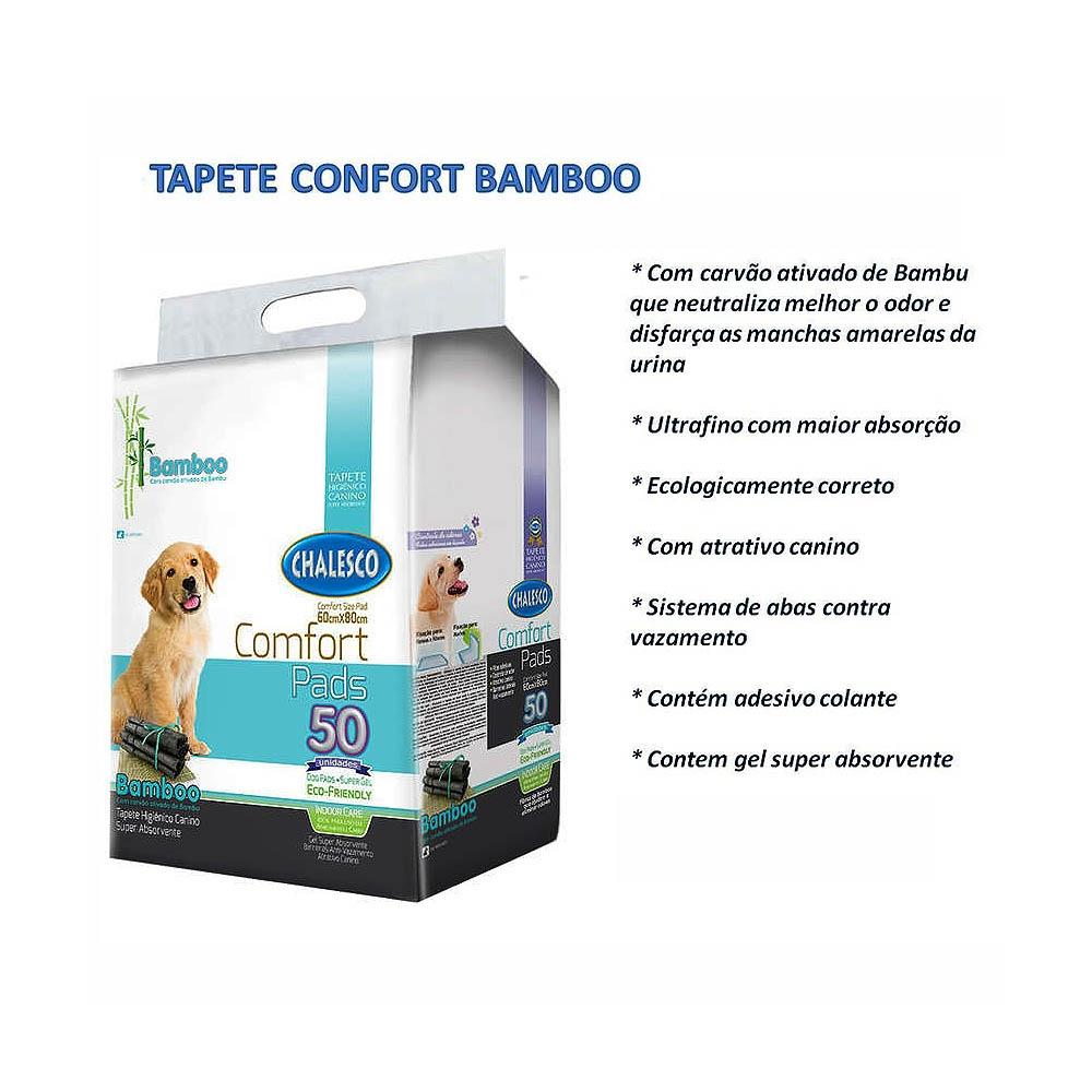 Tapete Higiênico Bamboo Ecológico para Cães 50 Unidades com atrativo - Chalesco